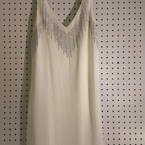 Charlotte Russe White Tank with Embellishment